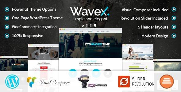 قالب WaveX - قالب وردپرس تک صفحه ای پارالاکس