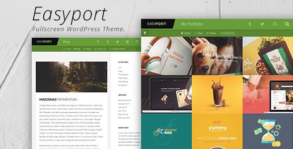 قالب Easyport - قالب وردپرس سایت نمونه کار
