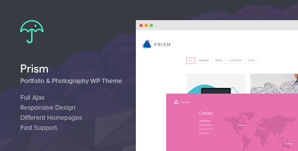 Prism - قالب رتینا عکاسی و نمونه کار