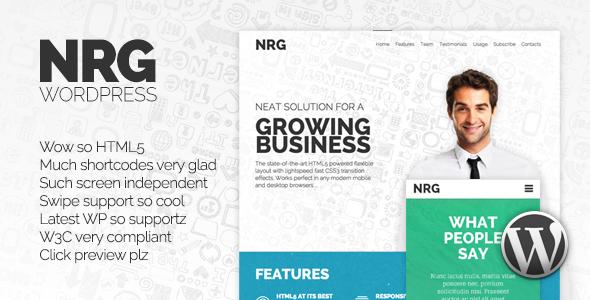 قالب NRG - قالب وردپرس ریسپانسیو