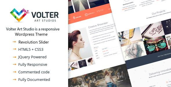 قالب Volter - قالب وردپرس تک صفحه ای