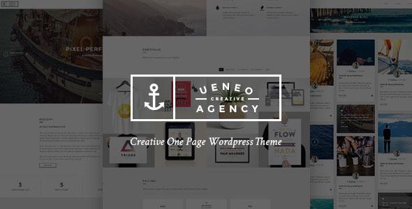 قالب Ueneo - قالب وردپرس تک صفحه ای خلاقانه