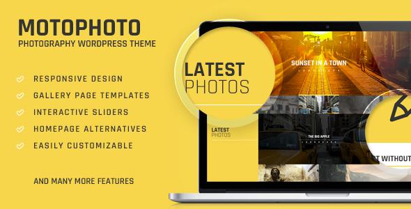 قالب Motophoto - قالب وردپرس نمونه کار عکاسی