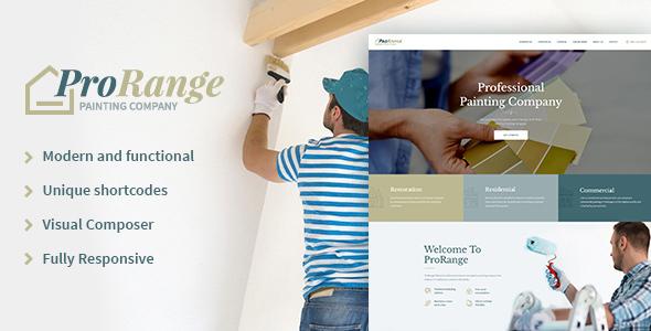 قالب ProRange - قالب وردپرس شرکت نقاشی