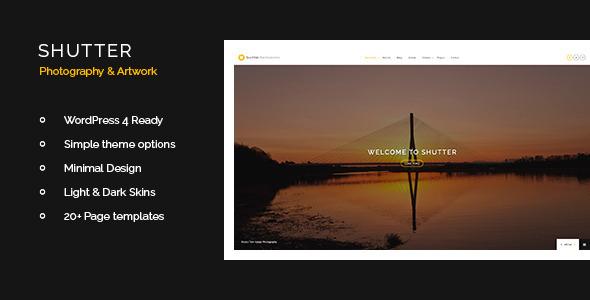 قالب Shutter - قالب سایت هنزی و عکاسی