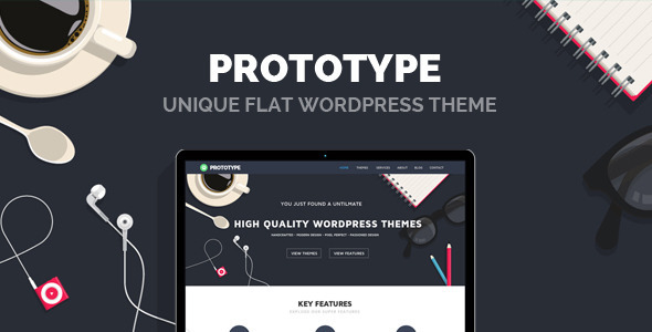 Prototype - قالب وردپرس ساده