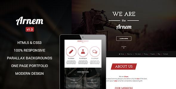 Arnem - قالب وردپرس تک صفحه ای خلاقانه