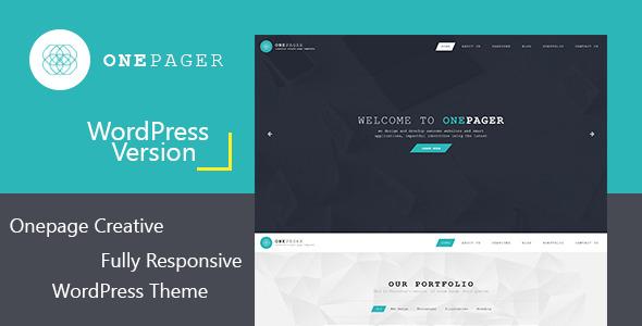 Onepager - قالب وردپرس تک صفحه ای