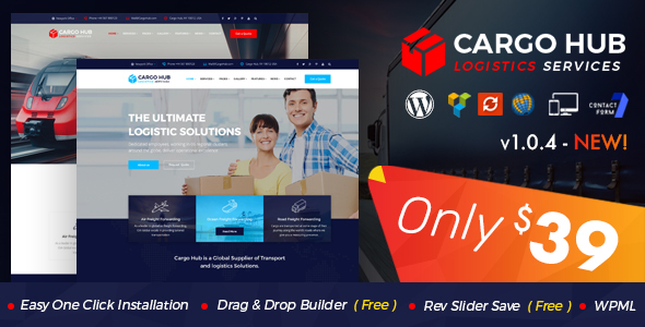 قالب Cargo HUB - قالب وردپرس شرکت حمل و نقل و لجستیک