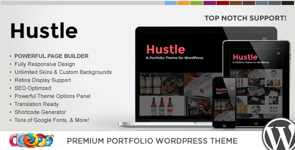 قالب WP Hustle - قالب نمونه کار ریسپانسیو وردپرس