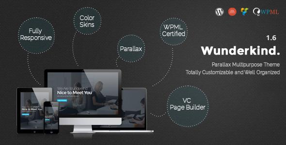 قالب Wunderkind - قالب وردپرس تک صفحه ای پارالاکس