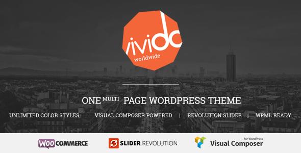 قالب Vivido - قالب وردپرس تک صفحه ای
