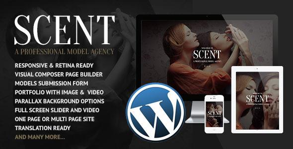 قالب Scent - قالب وردپرس آژانس مدل