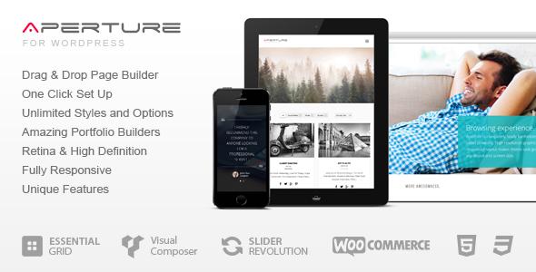 قالب Aperture - قالب وردپرس کسب و کار و شرکت