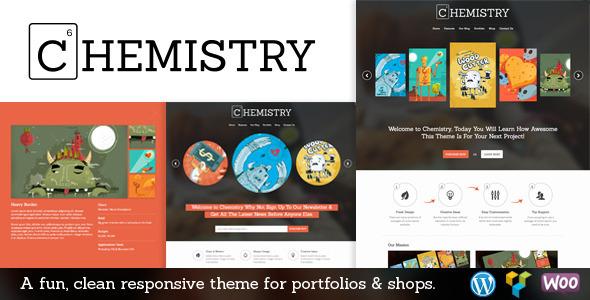 قالب Chemistry - قالب وردپرس نمونه کار و فروشگاهی