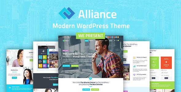 قالب Alliance - قالب وردپرس کسب و کار و بازاریابی