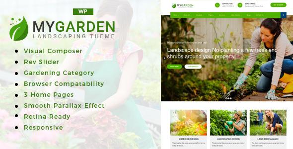 قالب My Garden - قالب وردپرس باغبانی