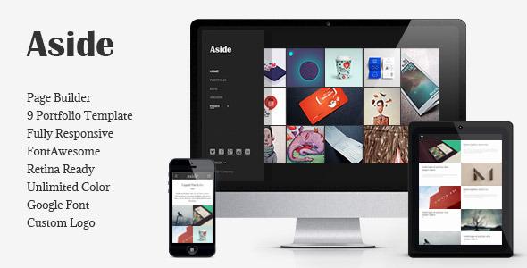 قالب Aside - قالب وردپرس سایت نمونه کار عکاسی