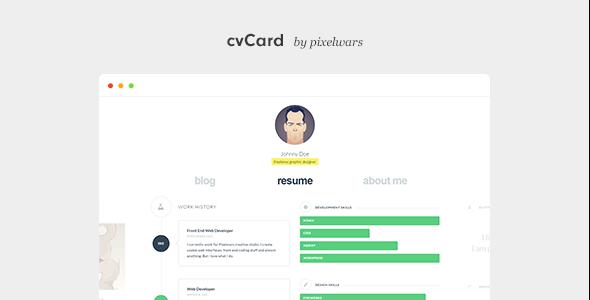 قالب cvCard WP - قاب وردپرس کارت ویزیت مجازی