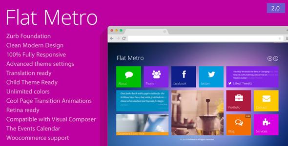 قالب Flat Metro - قالب وردپرس ریسپانسیو