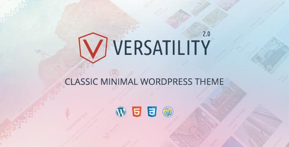 قالب Versatility - قالب وردپرس مینیمال خلاق