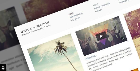 Brick + Mason - قالب عکاسی و وبلاگ حرفه ای