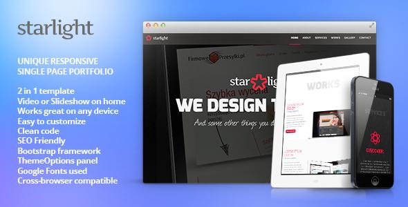 Starlight - قالب وردپرس نمونه کار