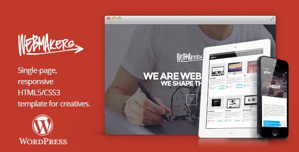 قالب Webmakers - قالب وردپرس تک صفحه ای