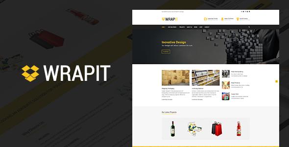 قالب WrapIt - قالب سایت شرکت بسته بندی