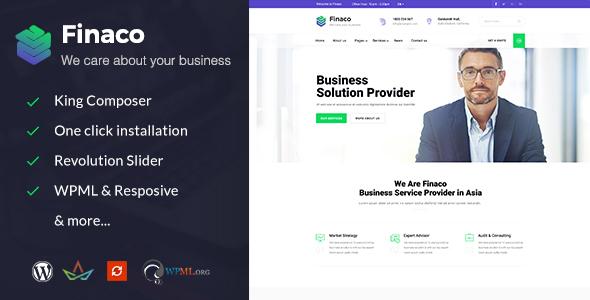 قالب Finaco - قالب وردپرس مشاوره و کسب و کار