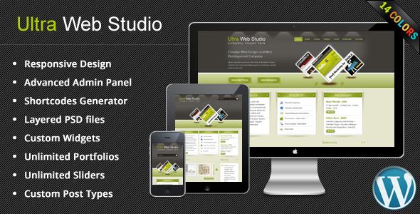 قالب Ultra Web Studio - قالب وردپرس بلاگ و نمونه کار