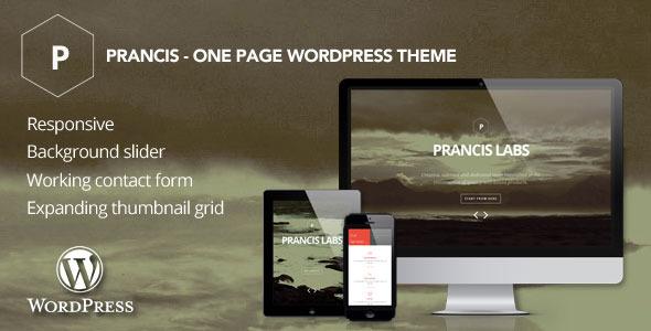 قالب Prancis - قالب وردپرس تک صفحه ای