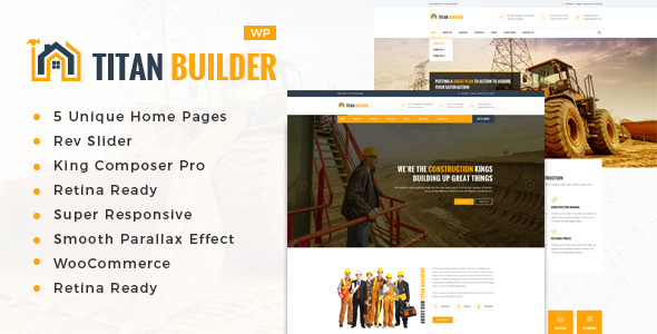 قالب Titan Builders - قالب وردپرس ساخت و ساز
