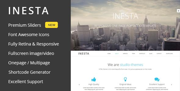 Inesta - قالب وردپرس تک صفحه ای