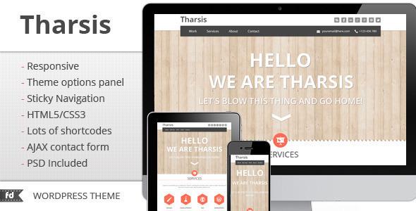 Tharsis - قالب تک صفحه ای نمونه کار