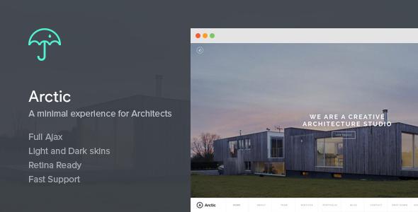 قالب Arctic - قالب وردپرس معماری و معماران