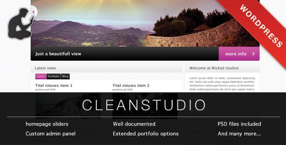 کلین استودیو | CLEAN STUDIO - قالب وردپرس