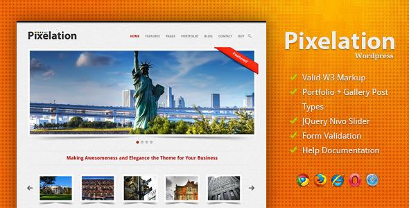 قالب Pixelation - قالب وردپرس