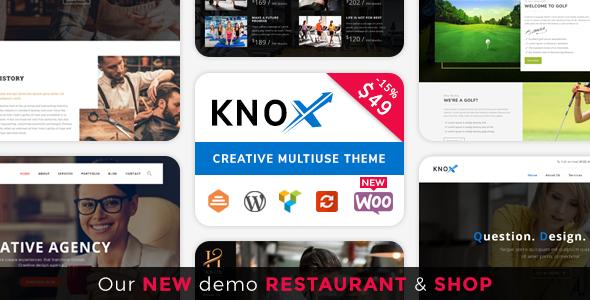 قالب Knox - قالب وردپرس کسب و کار