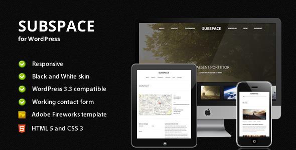 Subspace - قالب وردپرس نمونه کار