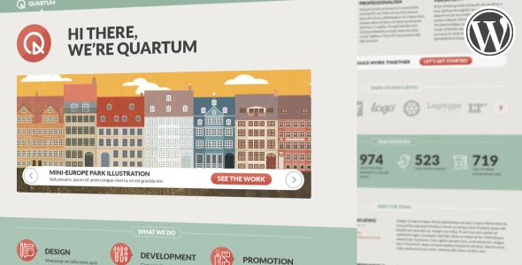 قالب Quartum - قالب نمونه کار وردپرس