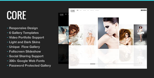 قالب Core - قالب وردپرس سایت نمونه کار عکاسی