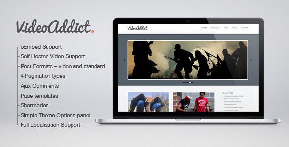 قالب VideoAddict - قالب ویدئو وردپرس