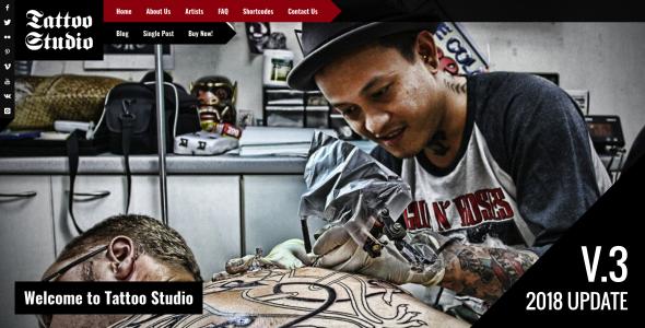 Tattoo Studio - قالب وردپرس ریسپانسیو