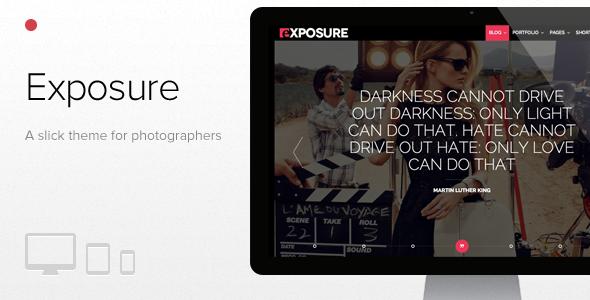 قالب Exposure - قالب عکاسی تمام صفحه برای وردپرس