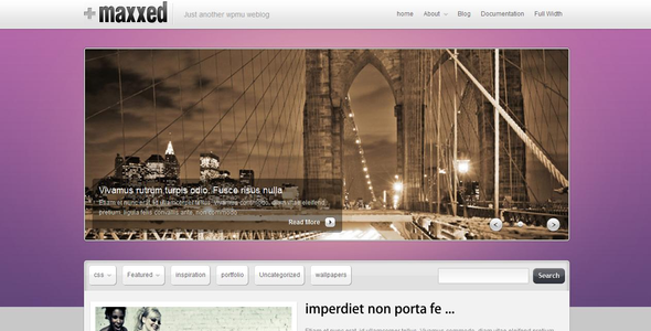 Maxxed - قالب نمونه کار و وبلاگ