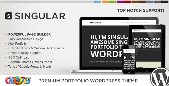 قالب WP Singular - قالب وردپرس تک صفحه ای