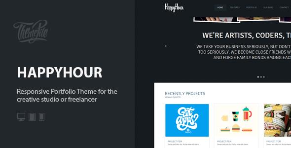قالب InHappyHour - قالب نمونه کار ریسپانسیو وردپرس