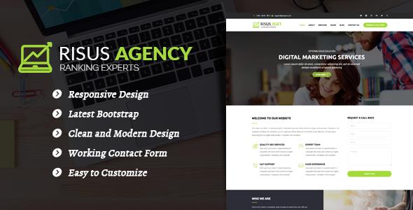 قالب Risus Agency - قالب وردپرس سئو و بازاریابی دیجیتال