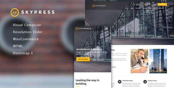 قالب SkyPress - قالب وردپرس ساخت و ساز ساختمان